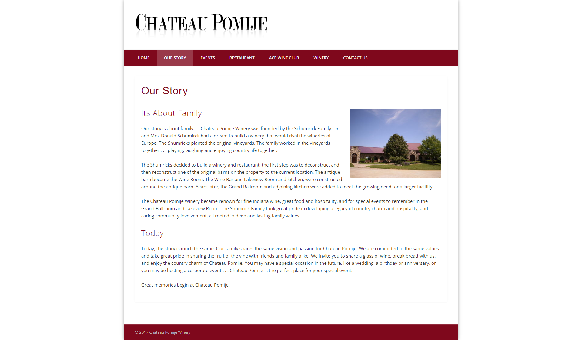 About Chateau Pomije Winery